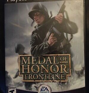 Medal Of Honor Frontline Sony Playstation 2 Ps2 Game Complete Black Label Cib 14633143812 Ebay Playstation Medal Of Honor Sony Playstation