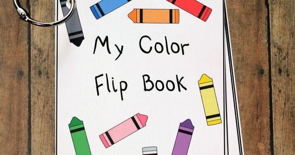 Printable Color Flash Card Flip Book Letter A Crafts