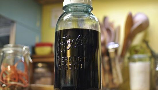 Homemade Coffee Liqueur homemade kahlua in the making by Marisa | Food