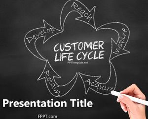 Free Chalkboard Customer Lifecycle Powerpoint Template