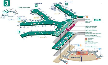 map of o hare terminal 3 O Hare Terminal Map Chicago O Hare International Airport Ord map of o hare terminal 3