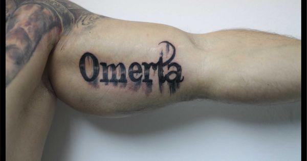 Omerta Tattoos Lettering Tattoos Pinterest Tattoo