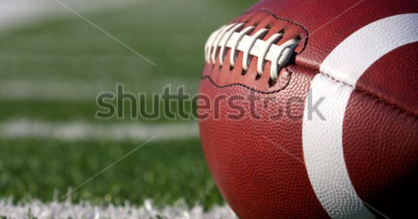 Bb American Football Close Up On Field With Yard Lines In The Distance Stock Photo Football Images High School Football Fantasy Football