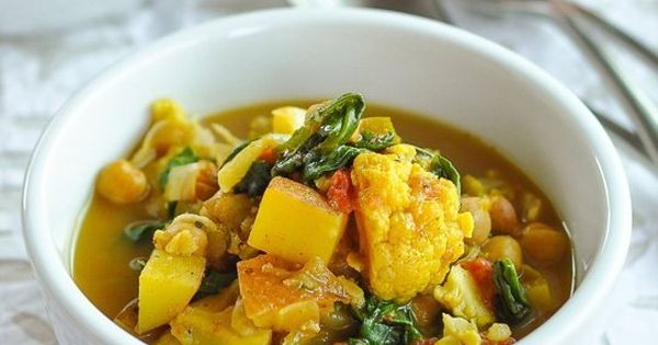Curried Vegetable and Chickpea Stew | Recipe | Vegans, Stew and Full ...