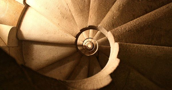 Staircase of the Sagrada Familia by Antoni Gaudi
