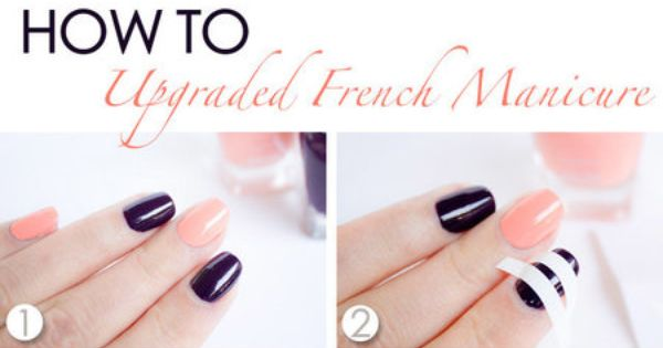 About nails on pinterest nail art designs cute nails and nail nail - Upgraded French Manicure Tutorial Bellashoot Com