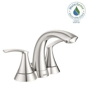 Moen Darcy 4 In Centerset 2 Handle Bathroom Faucet In Spot Resist Brushed Nickel Ws84550srn Bathroom Faucets Faucet Bathroom