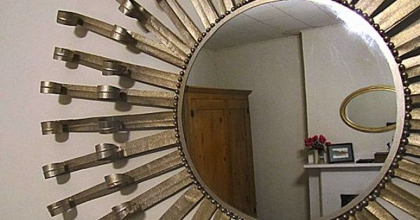 Make a Sunburst Mirror out of duct tape!