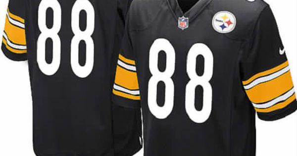 8f5cc4513 ... Nike Pittsburgh Steelers Youth Black Jersey 88 Game Emmanuel Sanders  NFL Jersey Sale NFL Pinterest Nfl ...