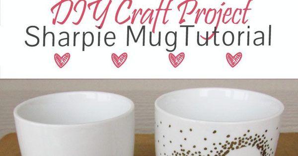 Diy craft project sharpie mug tutorial oil based for Craft smart paint pen on mugs