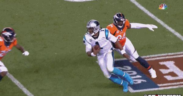 Broncos Repeatedly Hit Cam Newton Helmet To Helmet Football