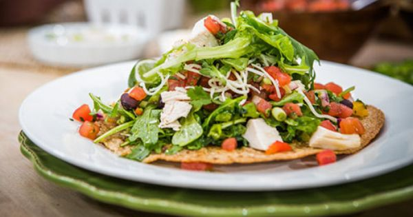Home & Family - Recipes - Christinas Healthy Chicken Tostada Salad ...