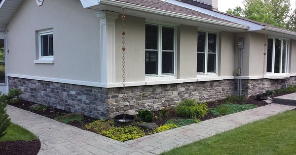 Stucco and stone exteriors exterior pinterest stone for Stucco and stone exterior