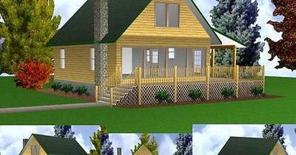 Cabin W Loft 24x32 Plans Package Blueprints Material List