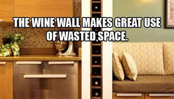 Utilize Dead Space With A Built In Wine Rack 31 Insanely Clever Remodeling