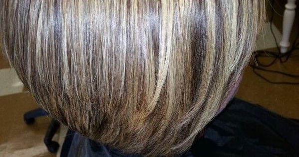with bangs | Inverted Bob With Bangs And Chunky High Lights | Short ...