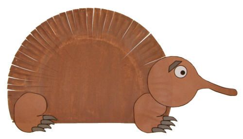 Paper Plate Echidna Craft Animal Crafts For Kids Animal Crafts Australia Crafts