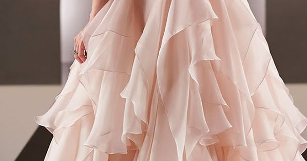 Elegant peach wedding dress