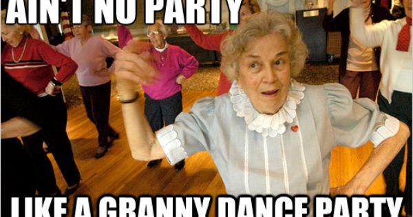 So Macht Oma Party Menschen Tanzen Alte Leute Leute