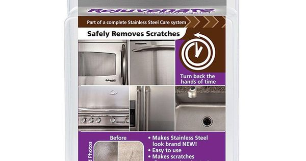 Rejuvenate stainless steel scratch eraser kit How to take scratches out of stainless steel appliances