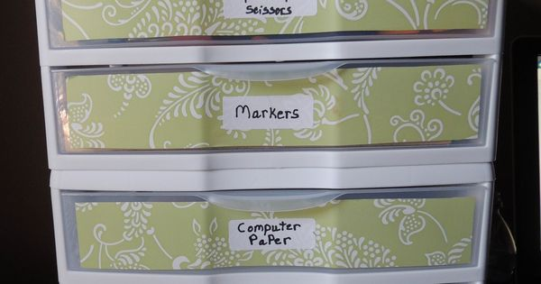 Dress Up A Plastic Organizer With Peel And Stick Drawer