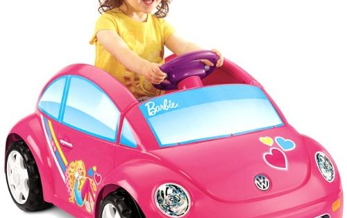 Fisher price power wheels barbie volkswagen new beetle for Motorized barbie convertible car
