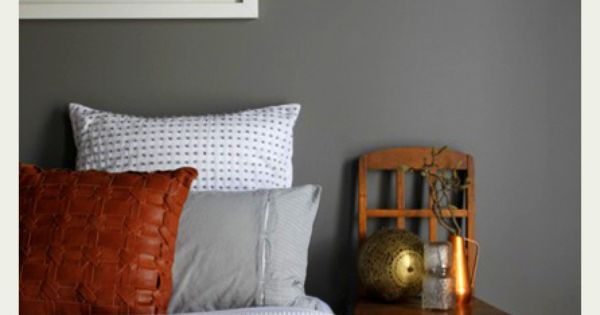 Master Bedroom Gray Accent Wall