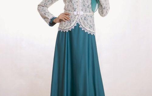 Model Baju Pesta Muslim Dengan Blazer Brokat