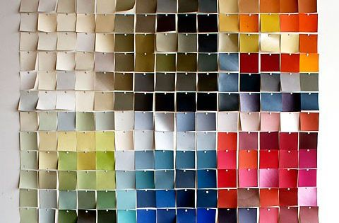 wall art.... all kinds of awesome ideas w. Paint swatches