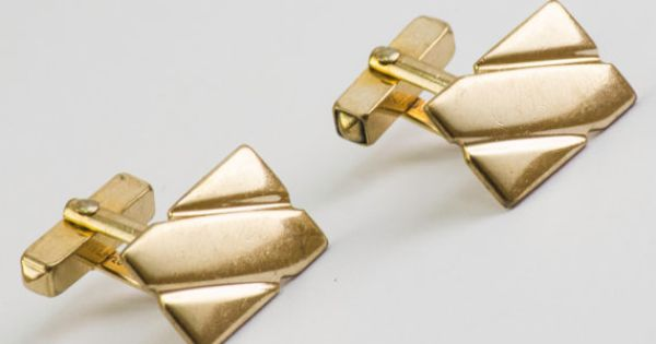Vintage Cufflinks  Art Deco Style Rectangle Cuff by CuffsandClips, $23.20
