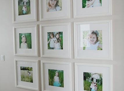 Love the white mat with a white frame and the photo display