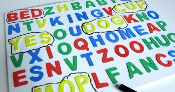 3D Word Search: For sight words or spelling words!