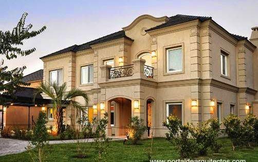 Casas estilo frances moderno buscar con google casas for Casas estilo clasico moderno