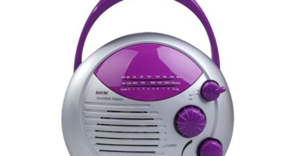 Vktech Purple Silver Am Fm Shower Radio Bathroom Waterproof Hanging Music Radio Vktech Http Www Amazon Com Dp B00ig0etje Ref Radio Portable Radio Music Radio