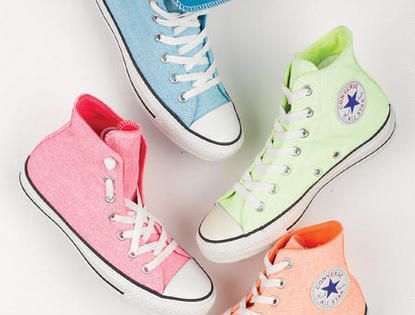 Pastel converse in hi tops