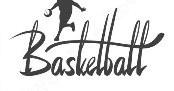 """BASKETBALL PLAYER WALL MURAL VINYL WALL DECAL LETTERS 15""""X27"""" MADE WITH ORACAL"""