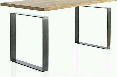 Dettagli su 2x Piedi per tavolo, Gambe tavolo metallo finish ...