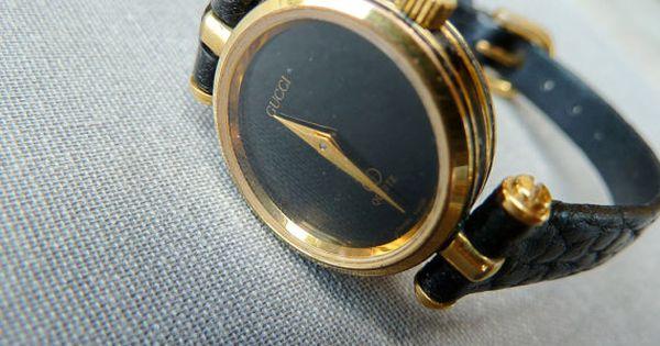 Vintage Gucci Wrist Watch Ladies Gucci Watch Black And
