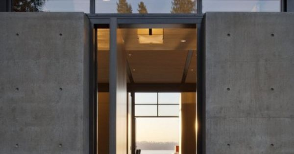 Side Pivot Door- Washington Park Residence | Sullivan Conard Architects | Archinect