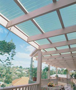 Suncall Translucent Plastic Corrugated Roofing By Ampelite Pergola Pergola With Roof Patio