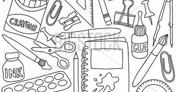 Utiles Escolares Dibujo Dibujos De Utiles Escolares Para Colorear