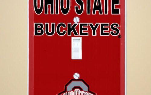 5 29 8 00 Baby Ohio State Buckeyes Metal Light Switch