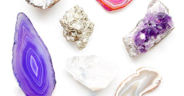 DIY - Gemstone/Mineral Crystals Magnet Set