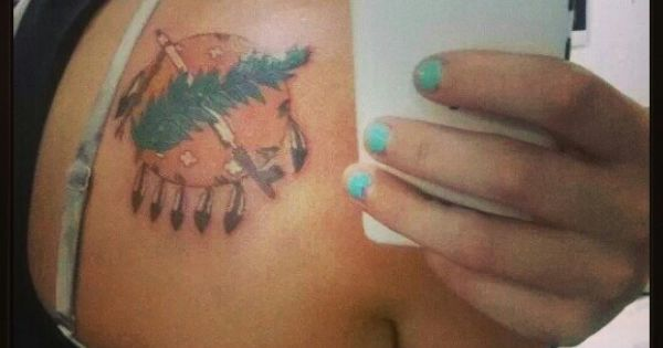 Tattoo oklahoma flag emblem osage shield tattoo ideas for Oklahoma flag tattoo