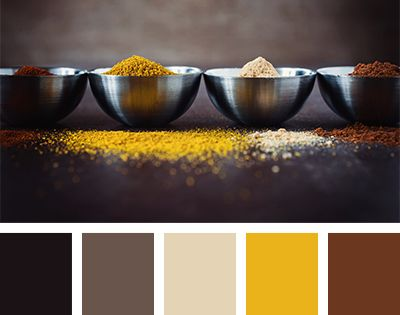 Dark Golden Yellow And Chocolate Colors Combined With Gray