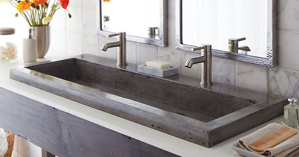 Native Trails Handcrafted Nativestone 48 Inch Trough Sink For The Bathroom Trough 4819
