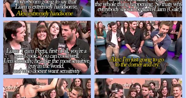 This is why we love our boys, except for Gale. No one