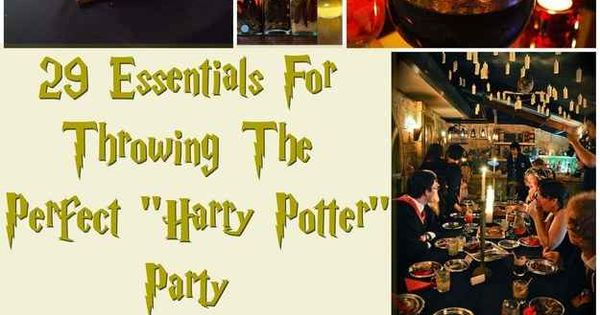 "29 Essentials For Throwing The Perfect ""Harry Potter"" Themed Party"