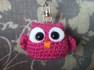 Owl phone charm crochet owl keychain iPhone charm by FerFoxDesign ... | 240x320