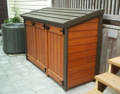 You Likely Fill Your Trash Right Into The Trash Bin Then Forget About It Up Until Trash Day However What Happens Outdoor Trash Cans Garbage Shed Patio Storage